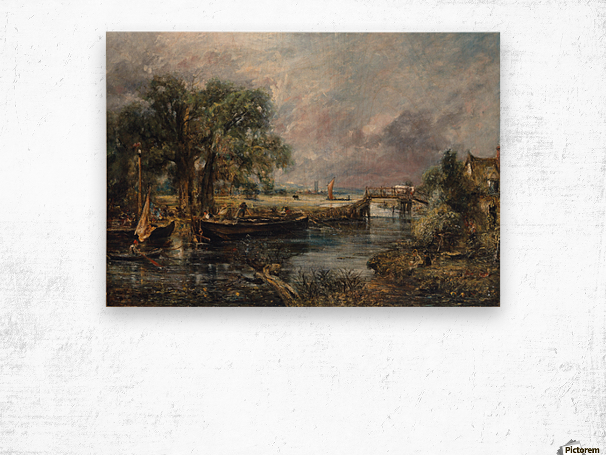 View on the River Stour Wood print