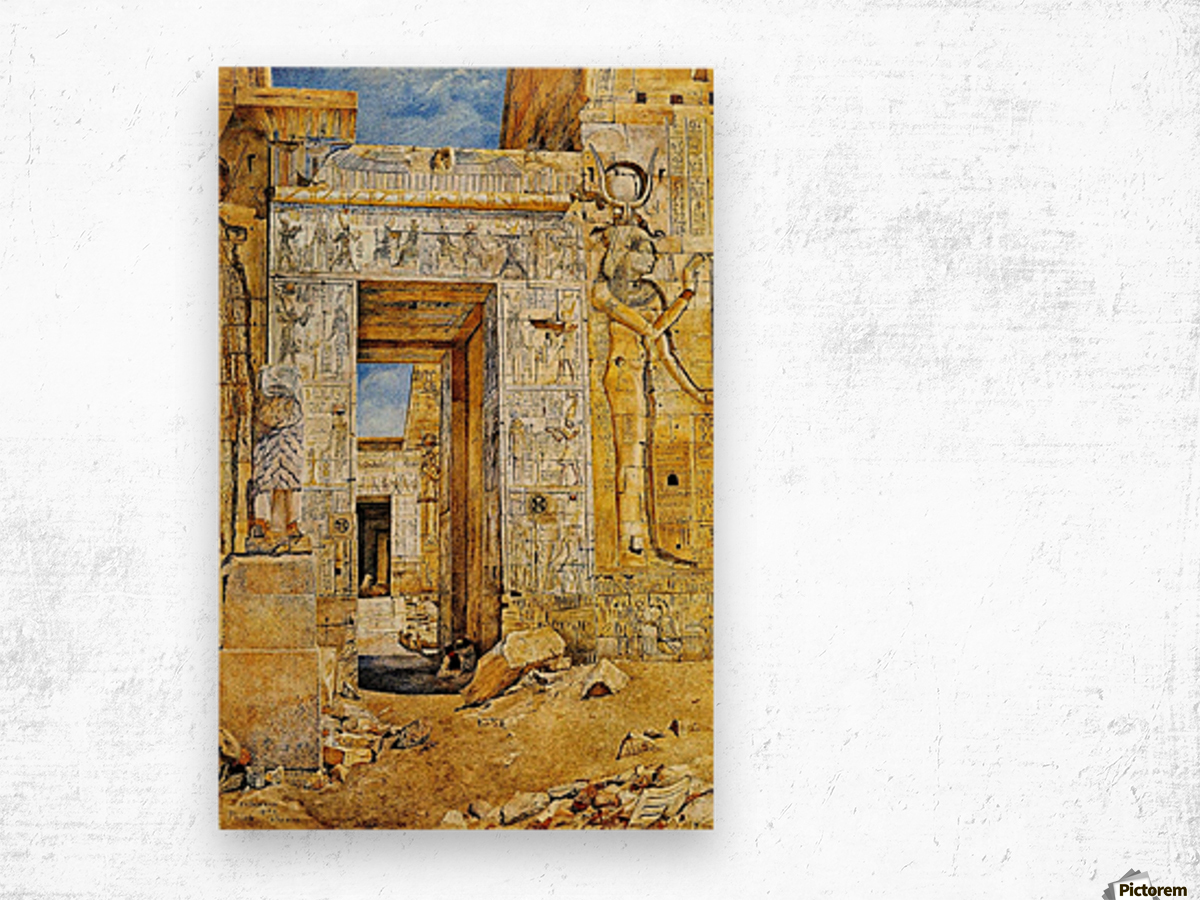 An Egiptian gate Wood print