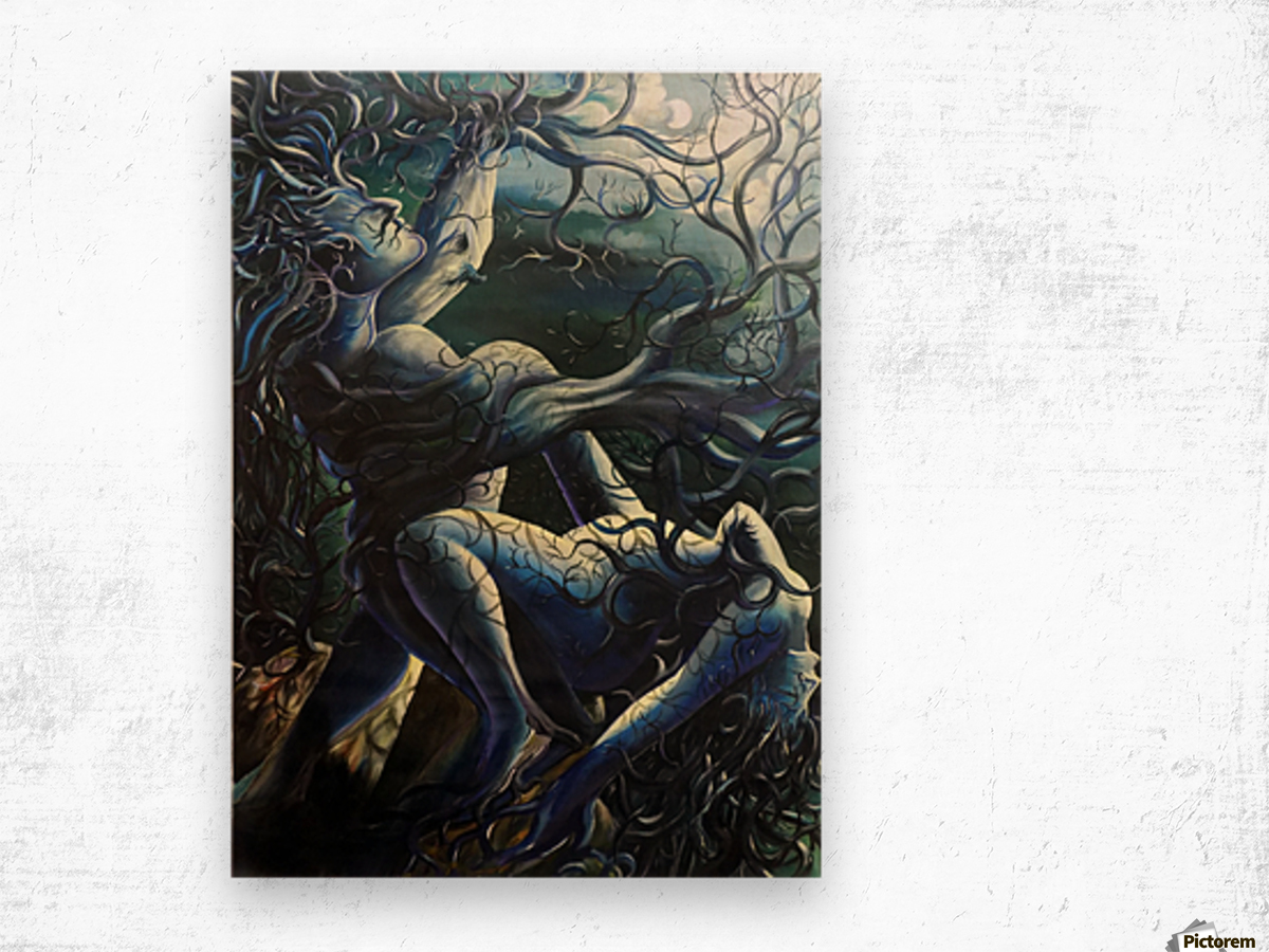 THE DANCE OF LOVE BY TREES Wood print