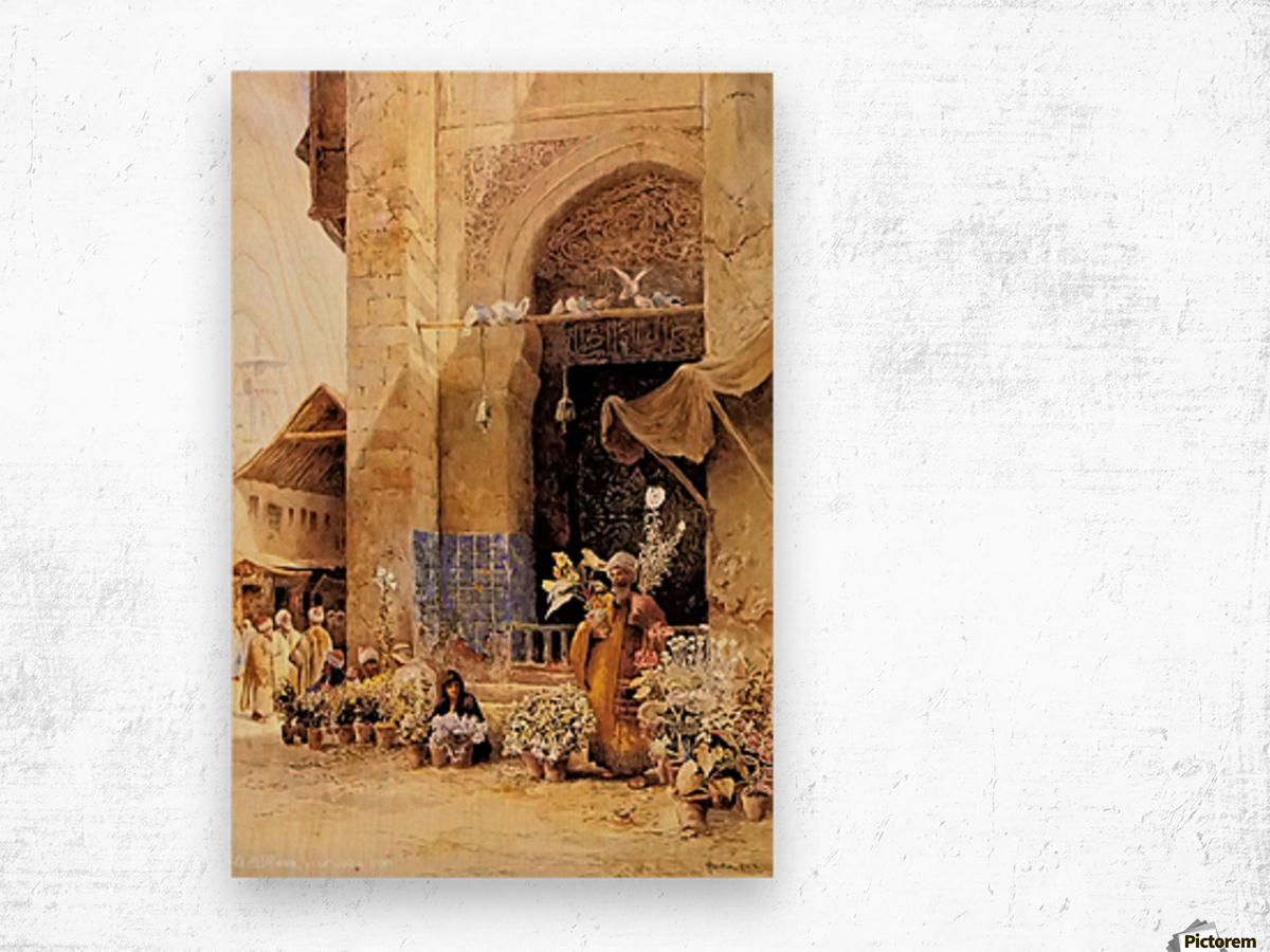 The flower market, Damascus Wood print