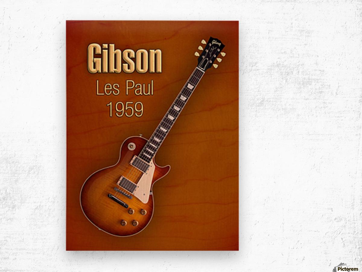 Vintage Gibson Les paul 1959 Wood print