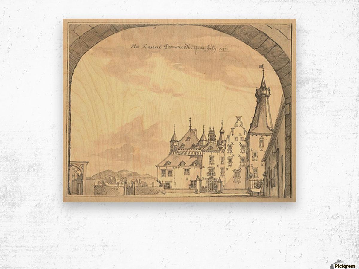 Kasteel Doorwerd 1744 Wood print