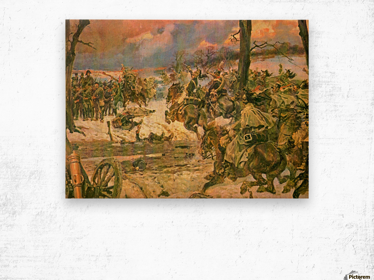 A battle scene Wood print