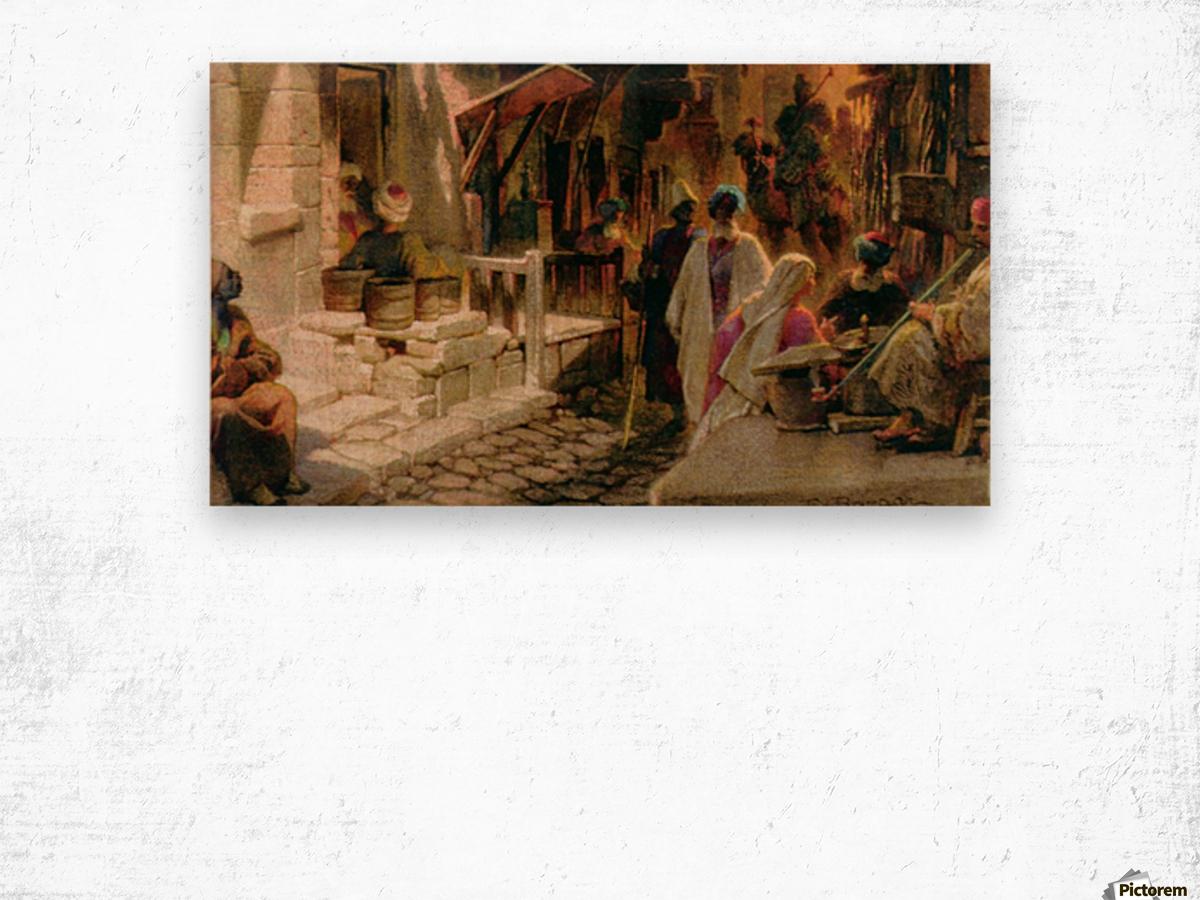 The Bazaar near Damascus Wood print