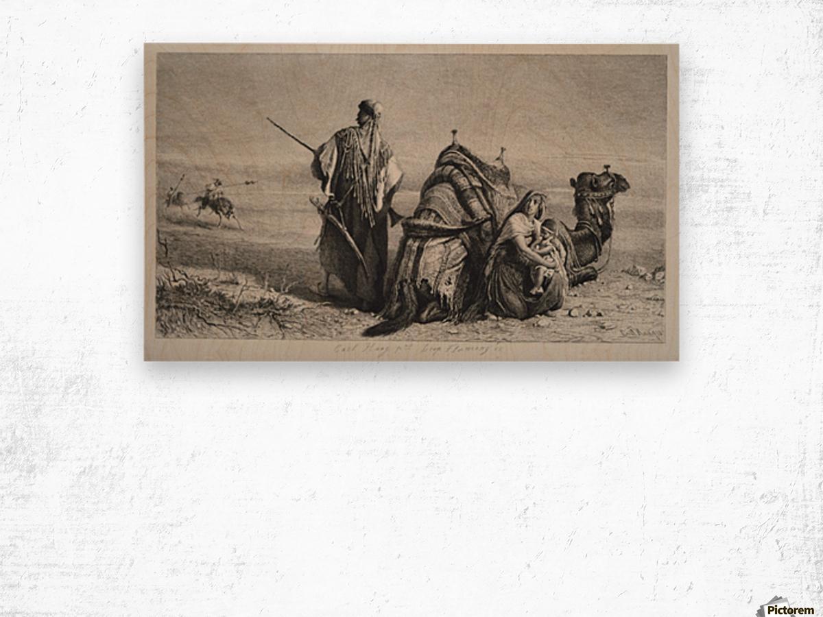Danger in the desert Wood print