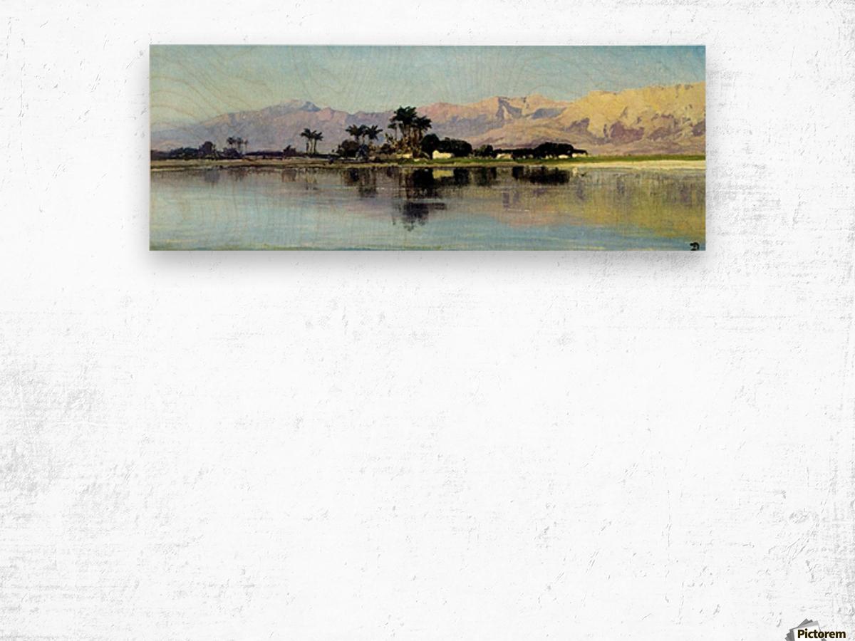 A distant island Wood print