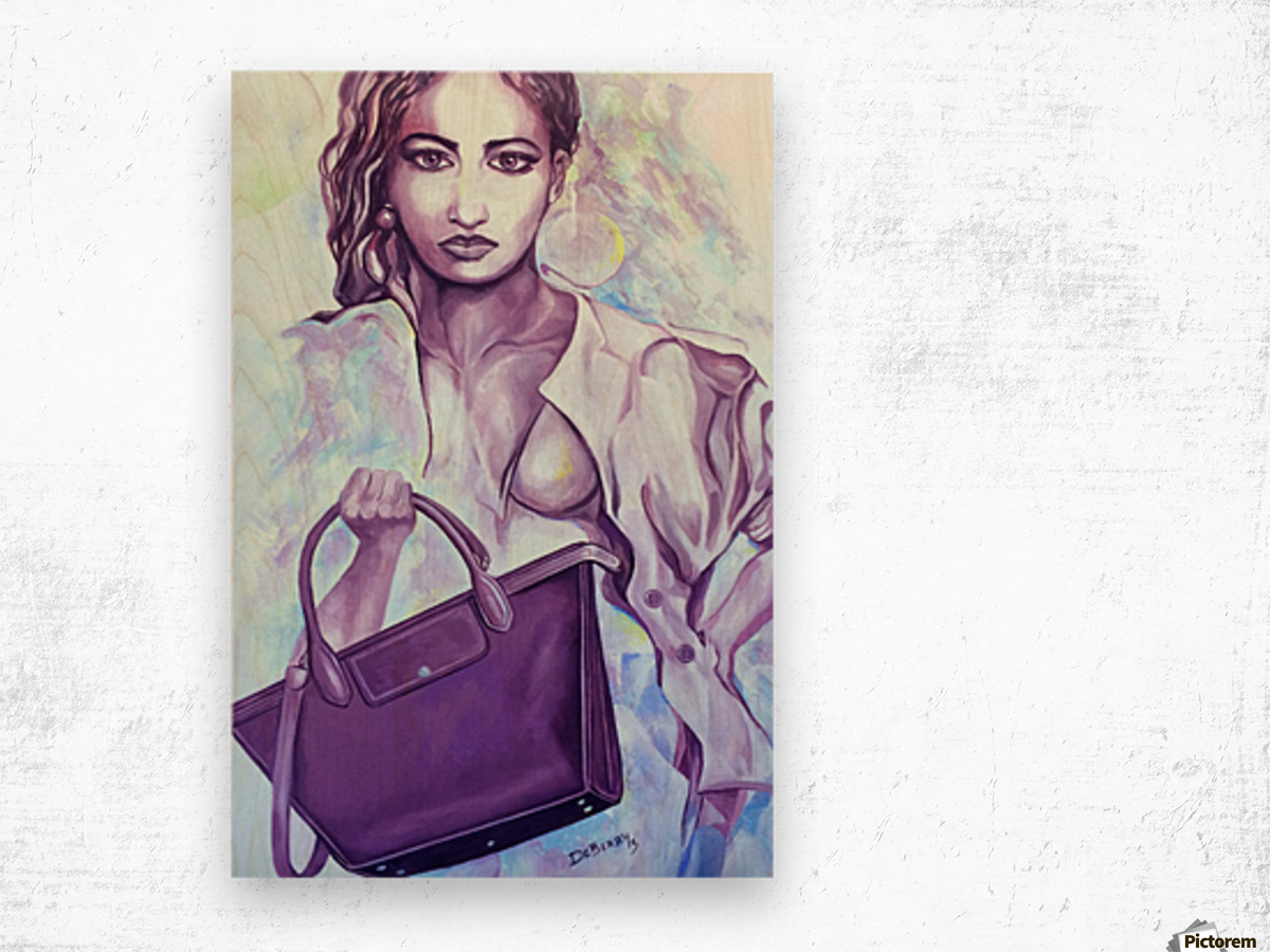 bag_lady_print Wood print