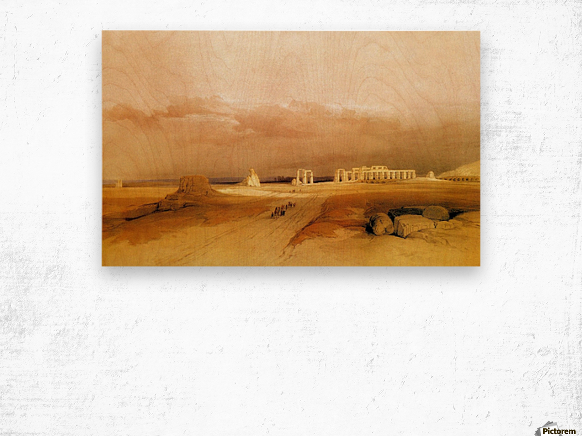 Ancient ruins near the desert Wood print
