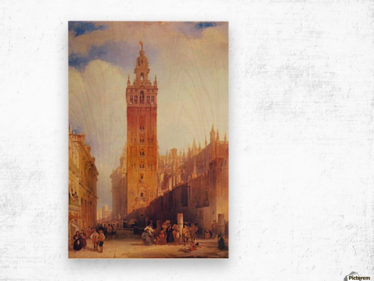 The Moorish Tower at Seville, called the Giralda Wood print
