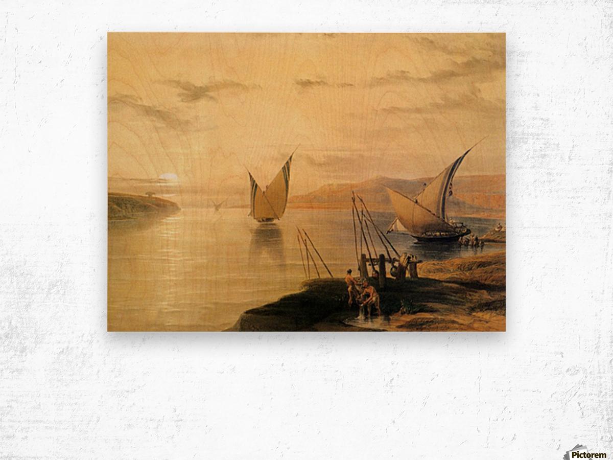 Gebel El Silsilis 1838 Wood print