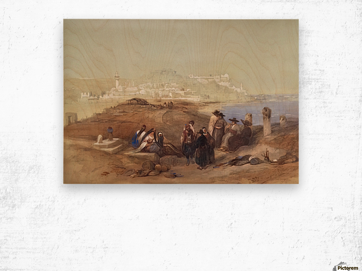 Jaffa, View from South Wood print