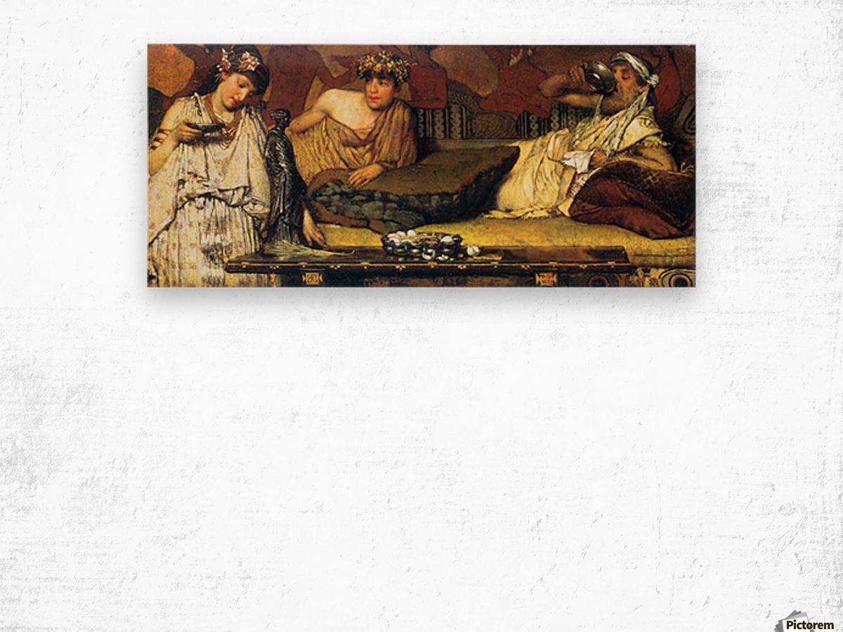 The dinner (Greek), detail by Alma-Tadema Wood print