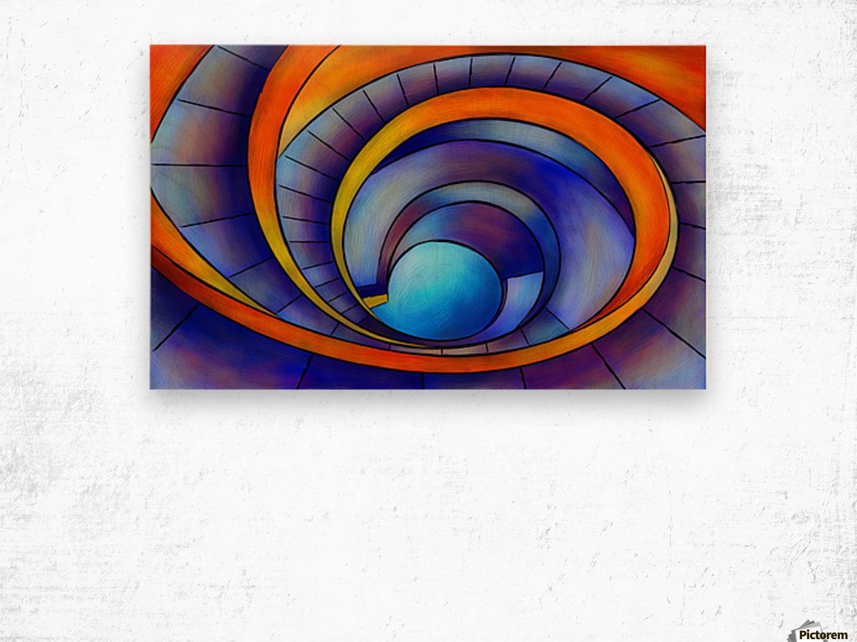 Melanissia - abstract moonrise Wood print