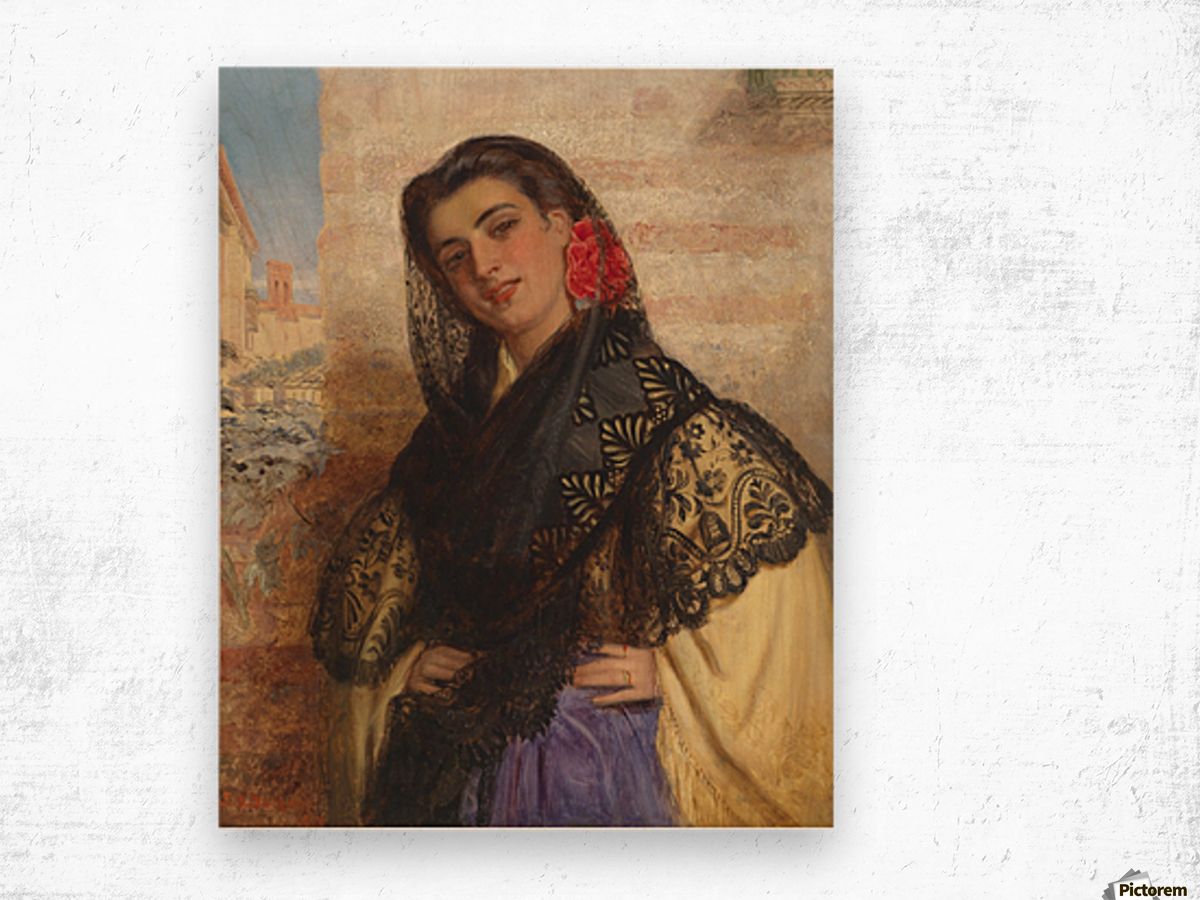 The spanish couquette 1879 Wood print