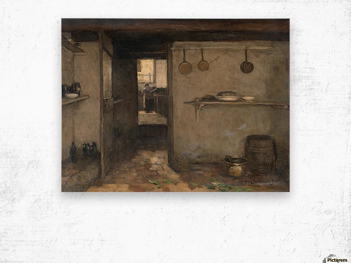 Doorkijkje in het onderhuis van Weissenbruch's woning in Den Haag Wood print