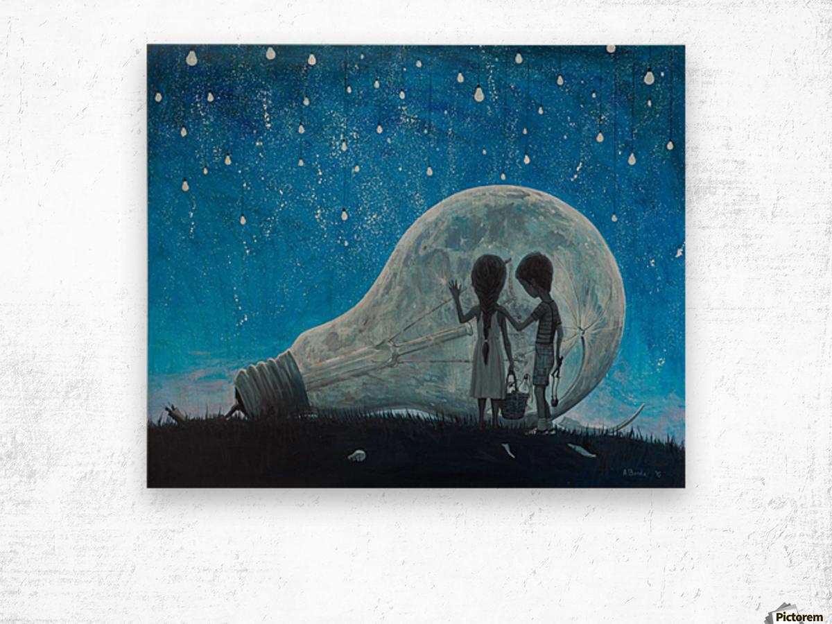 The Night We Broke The Moon Wood print