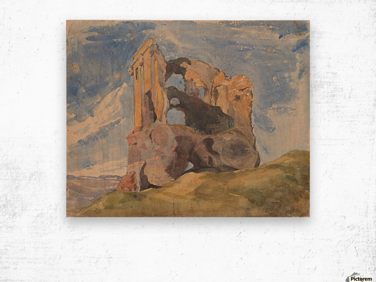 Tomb in Campagna Wood print