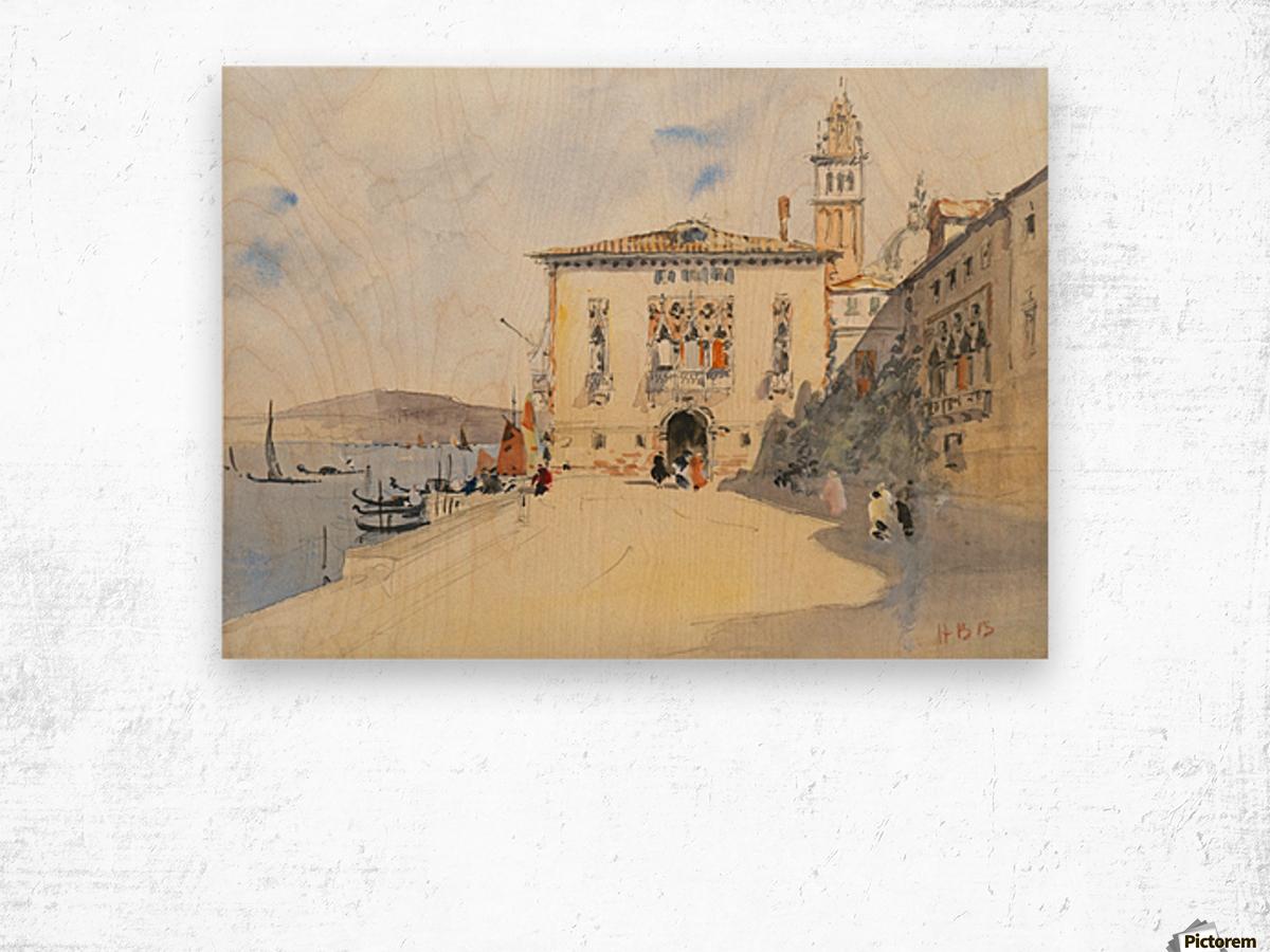 Murano, near Venice Wood print
