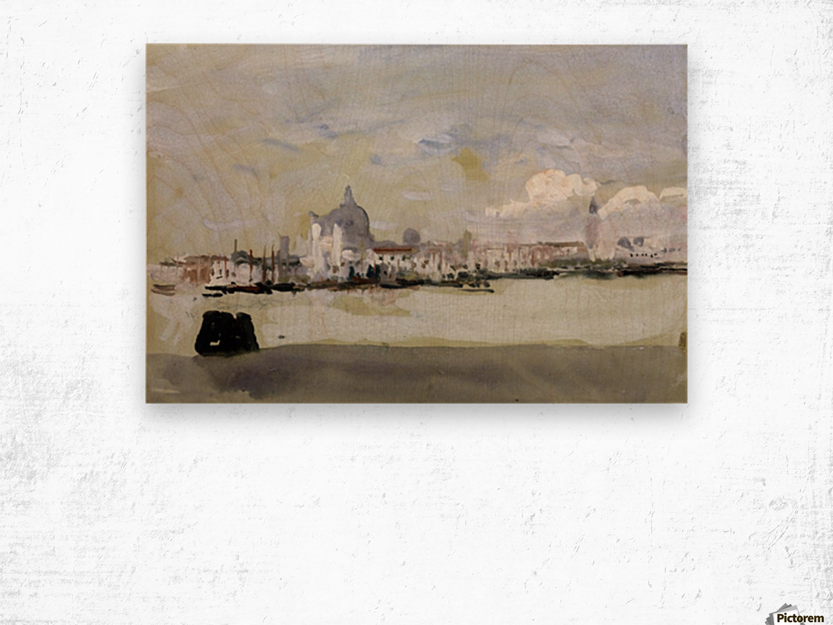 A grey day in Venice Wood print