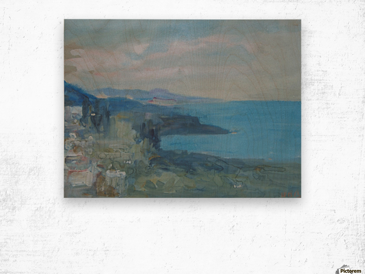 On the Riviera, France Wood print