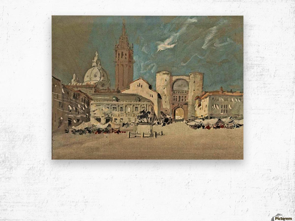 Piazza dei Signori, Padua Wood print