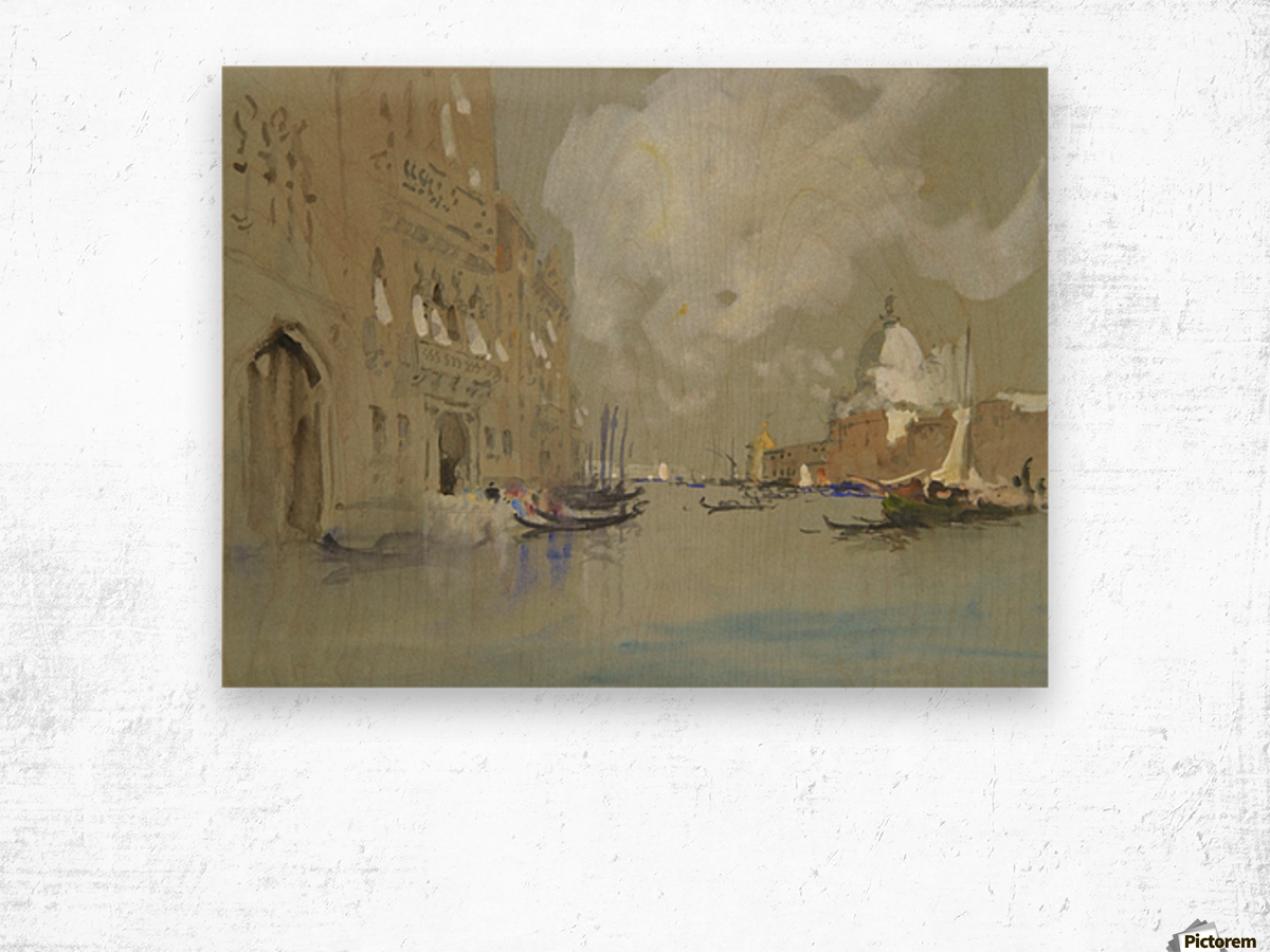 View of Venice along a canal Wood print