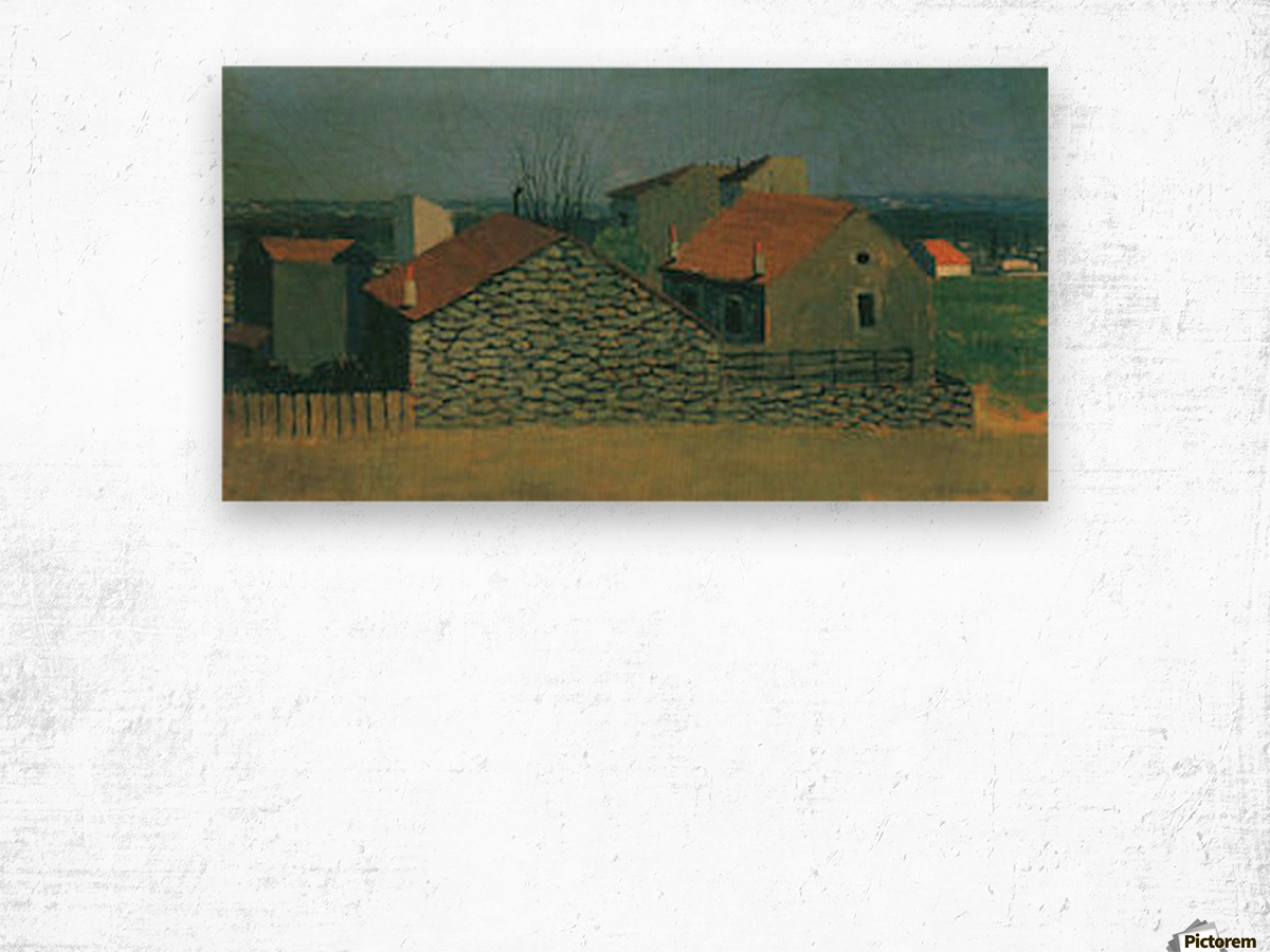 Houses in Puteaux by Felix Vallotton Wood print