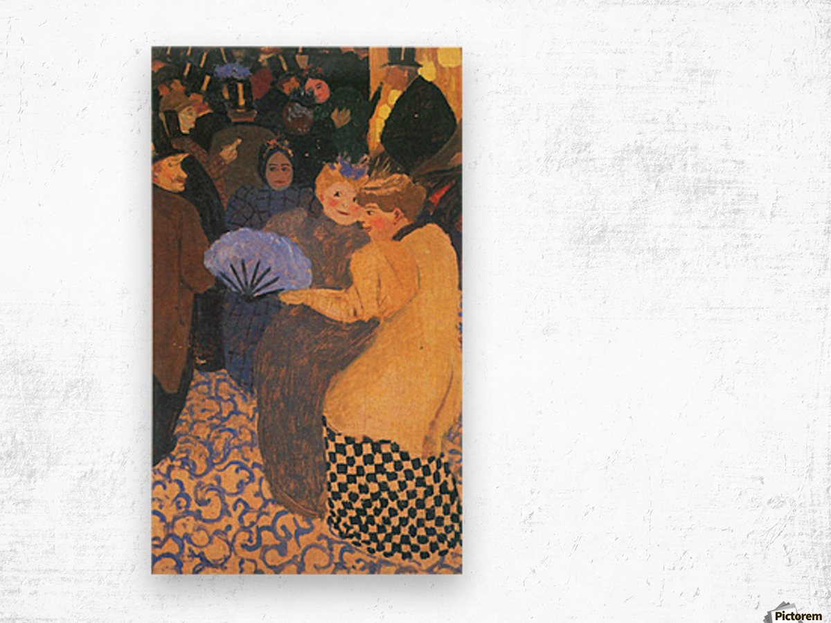 In the music hall by Felix Vallotton Wood print