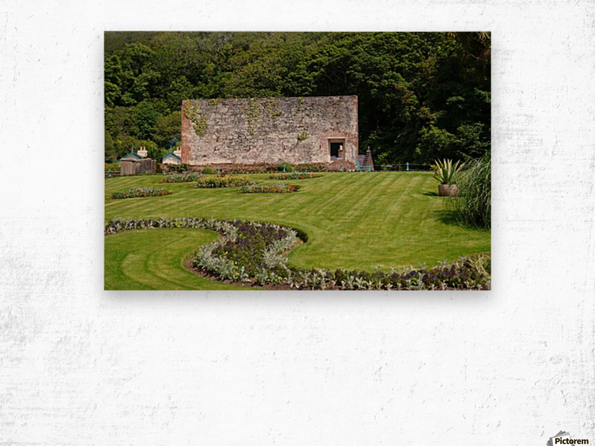 Victorian Walled Garden , Kylemore Abbey, Ireland, Wood print