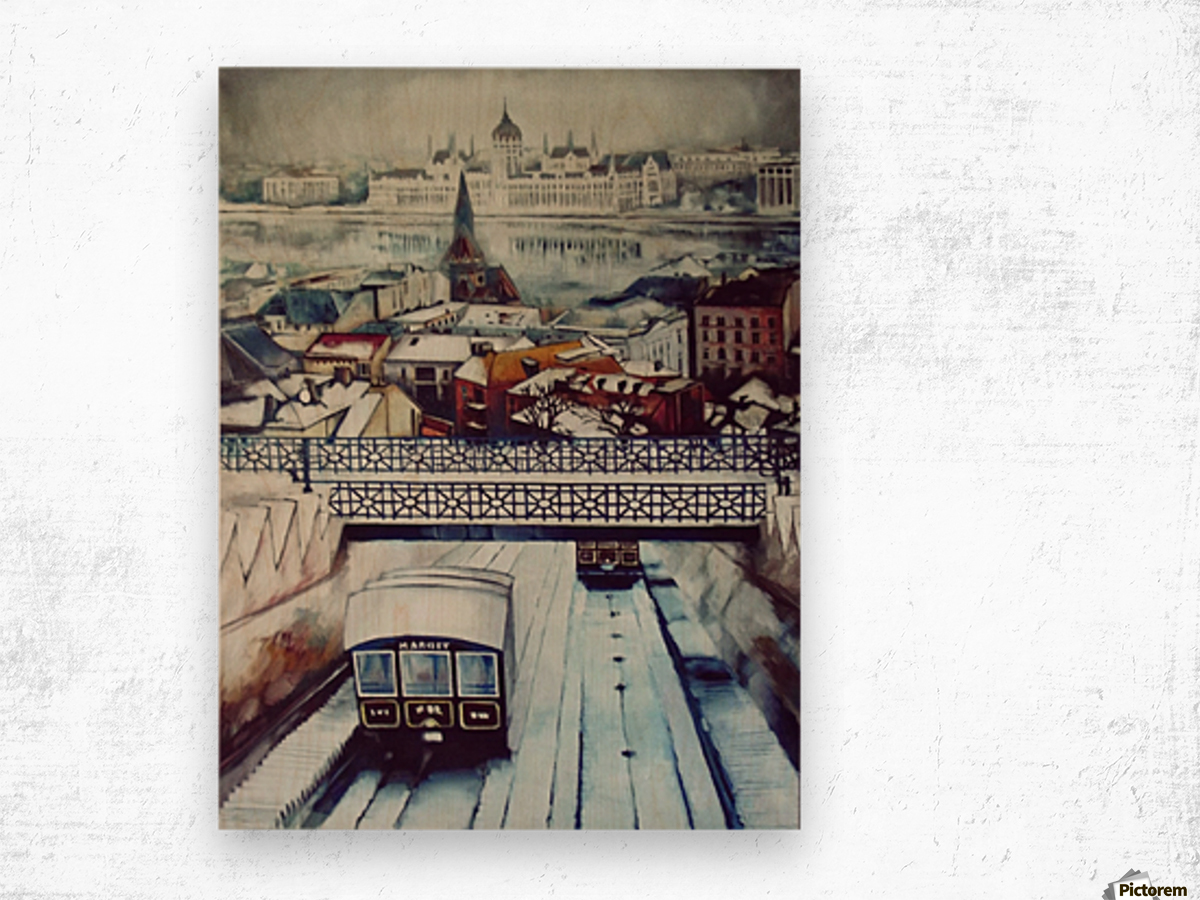 Nostalgia Cable Car in Budapest Wood print