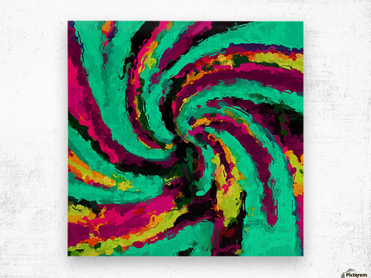 psychedelic graffiti watercolor painting abstract in green blue pink ...