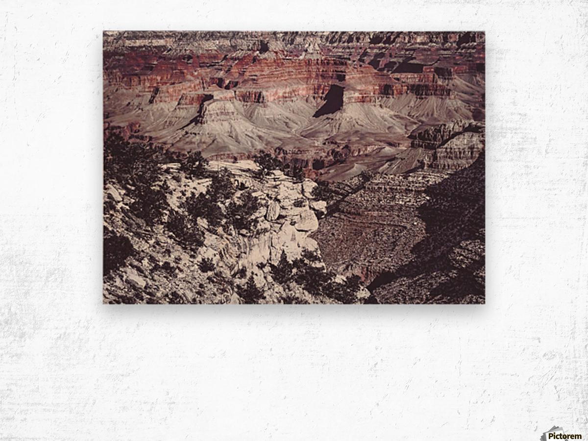 at Grand Canyon national park, USA Wood print