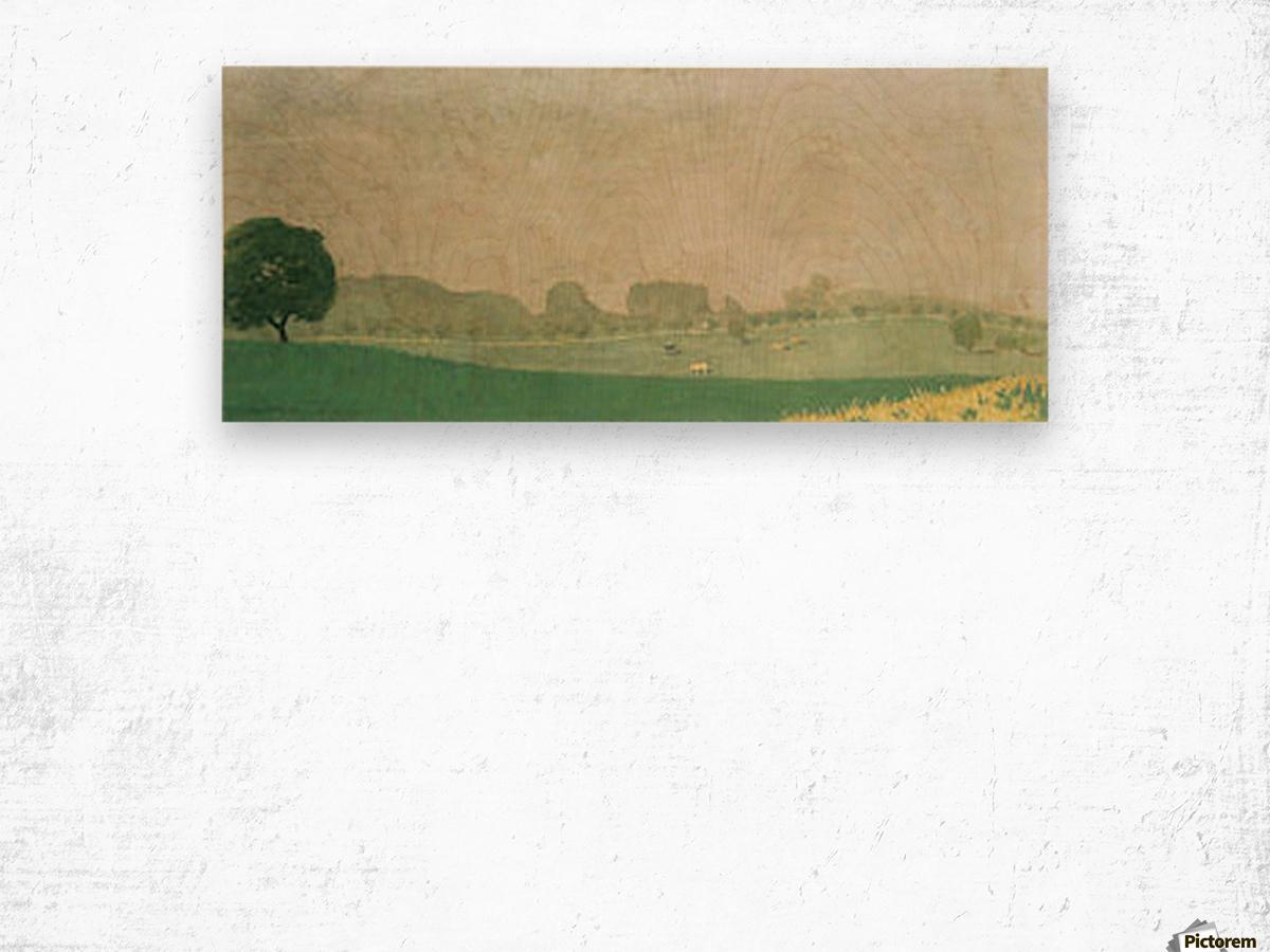 Morning mist in Romanel by Felix Vallotton Wood print