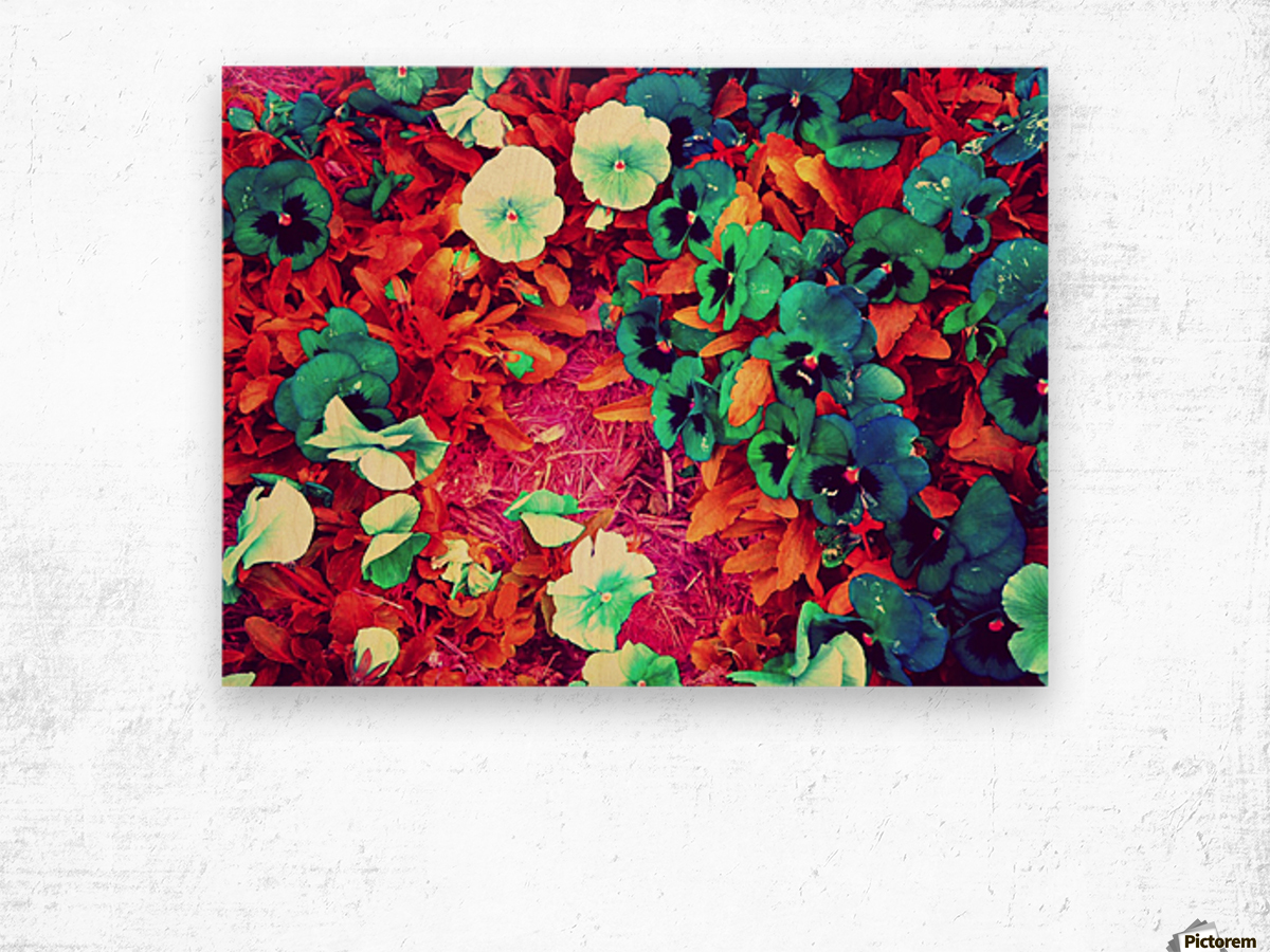 mwc garden flowers one Wood print