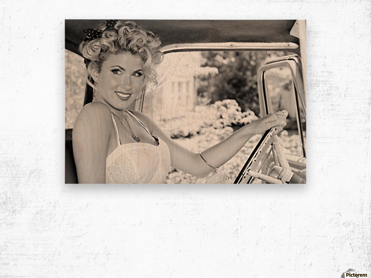 ©Lou Freeman Dark Glamour & Beauty Black & White    77 Wood print