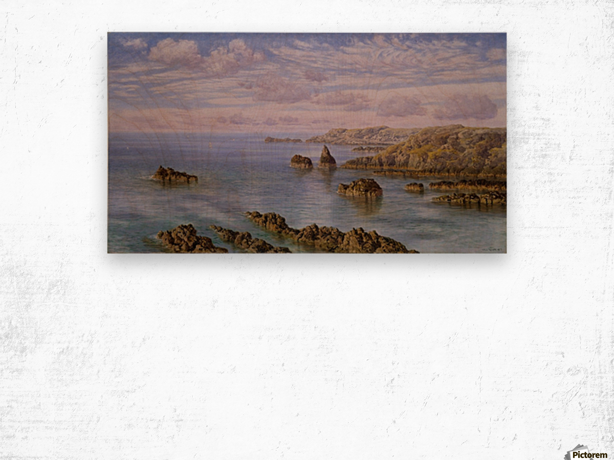 Southern Coast of Guernsey, 1875 Wood print