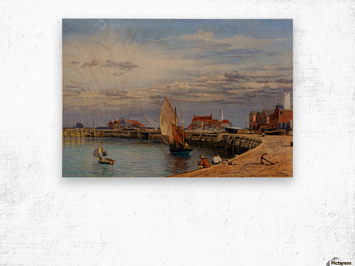 Entrance to Yarmouth Harbour Wood print