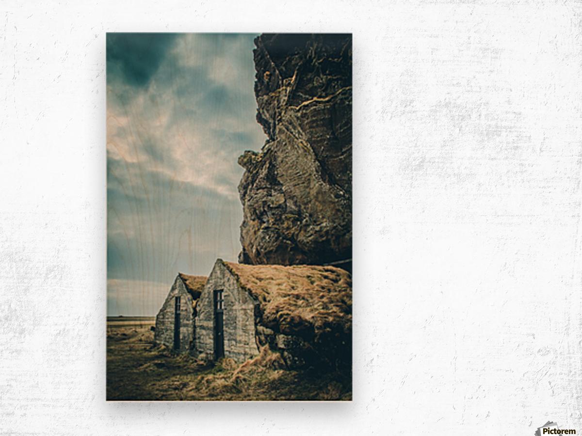 Turf Houses Impression sur bois