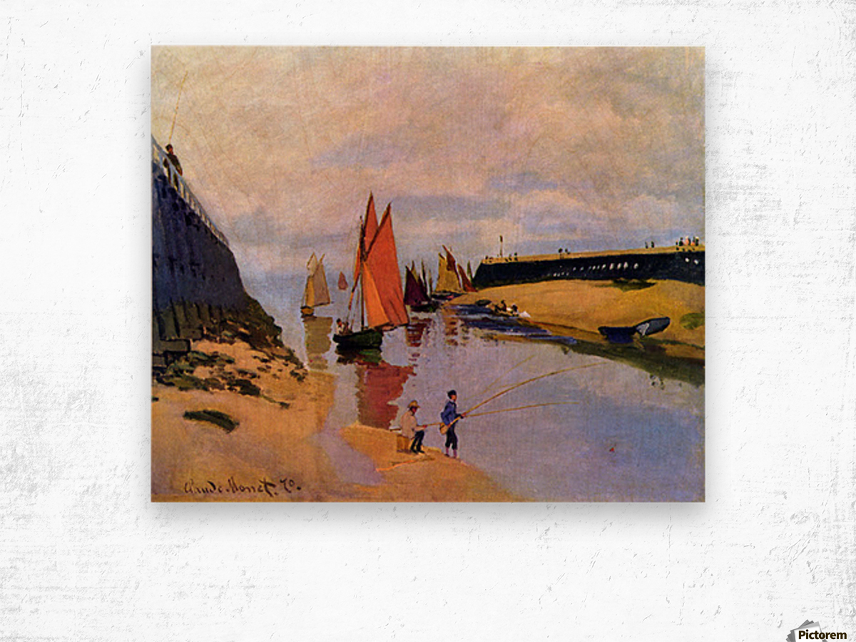 Port of Trouville by Monet Wood print