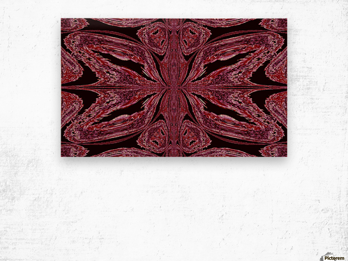 Butterfly of Red  Wood print