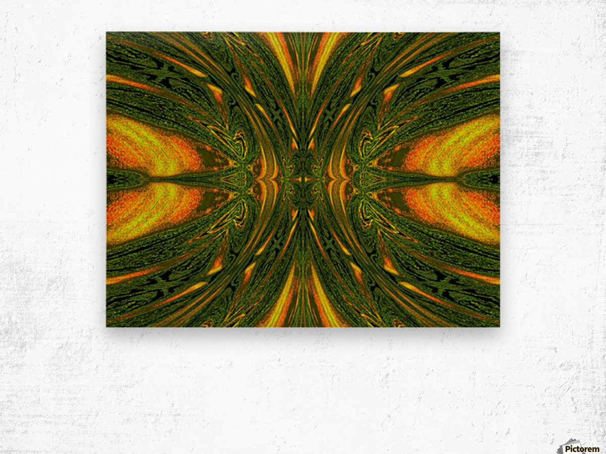 Green Mystical Butterfly 1 Wood print