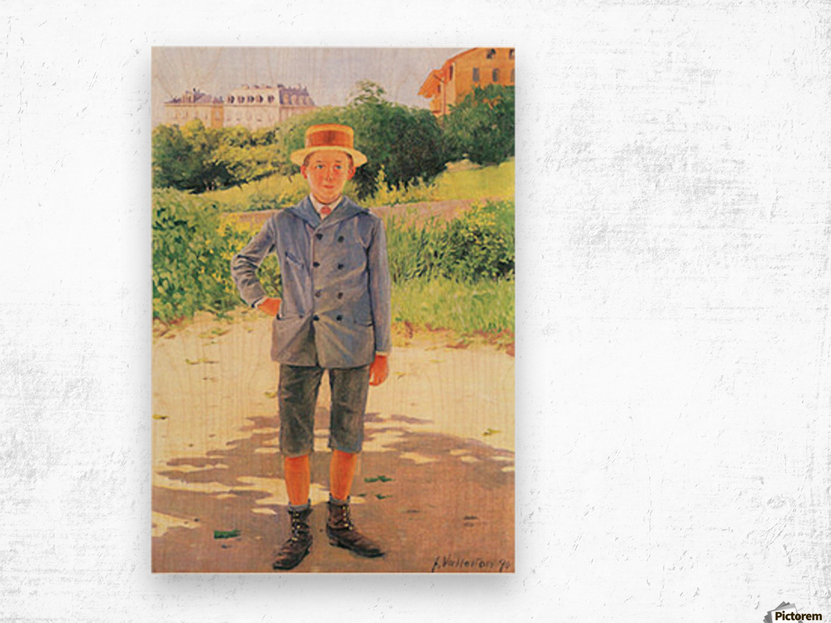 Portrait of a young Delisle by Felix Vallotton Wood print