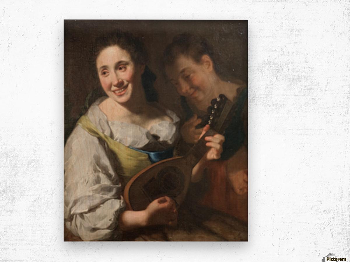 Mandolin player Wood print