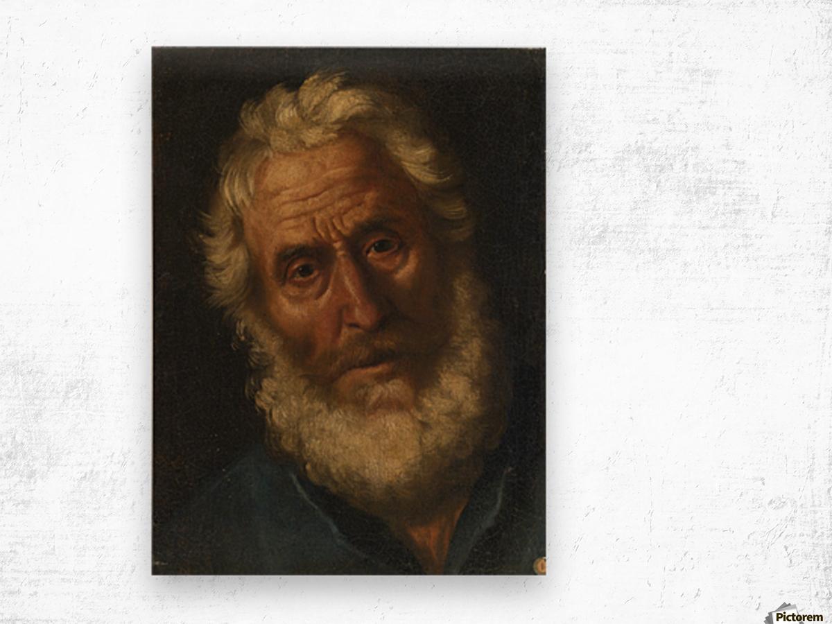 Head of a philosopher Wood print