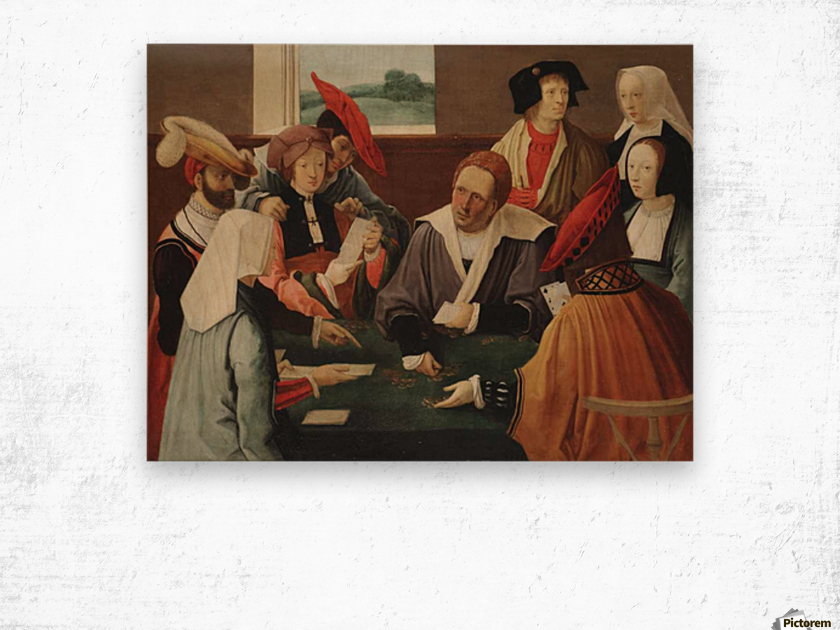 The card players Wood print