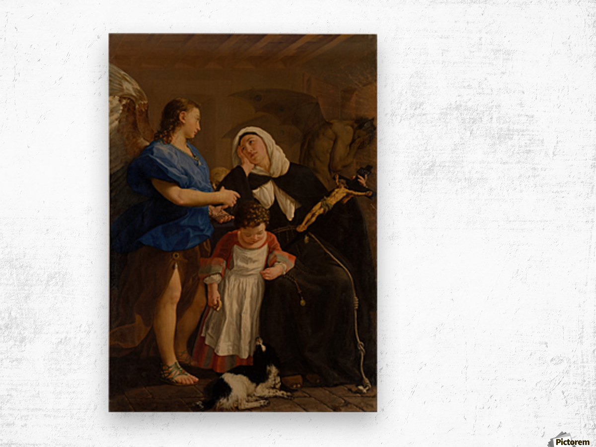Saint Margaret of Cortona Wood print