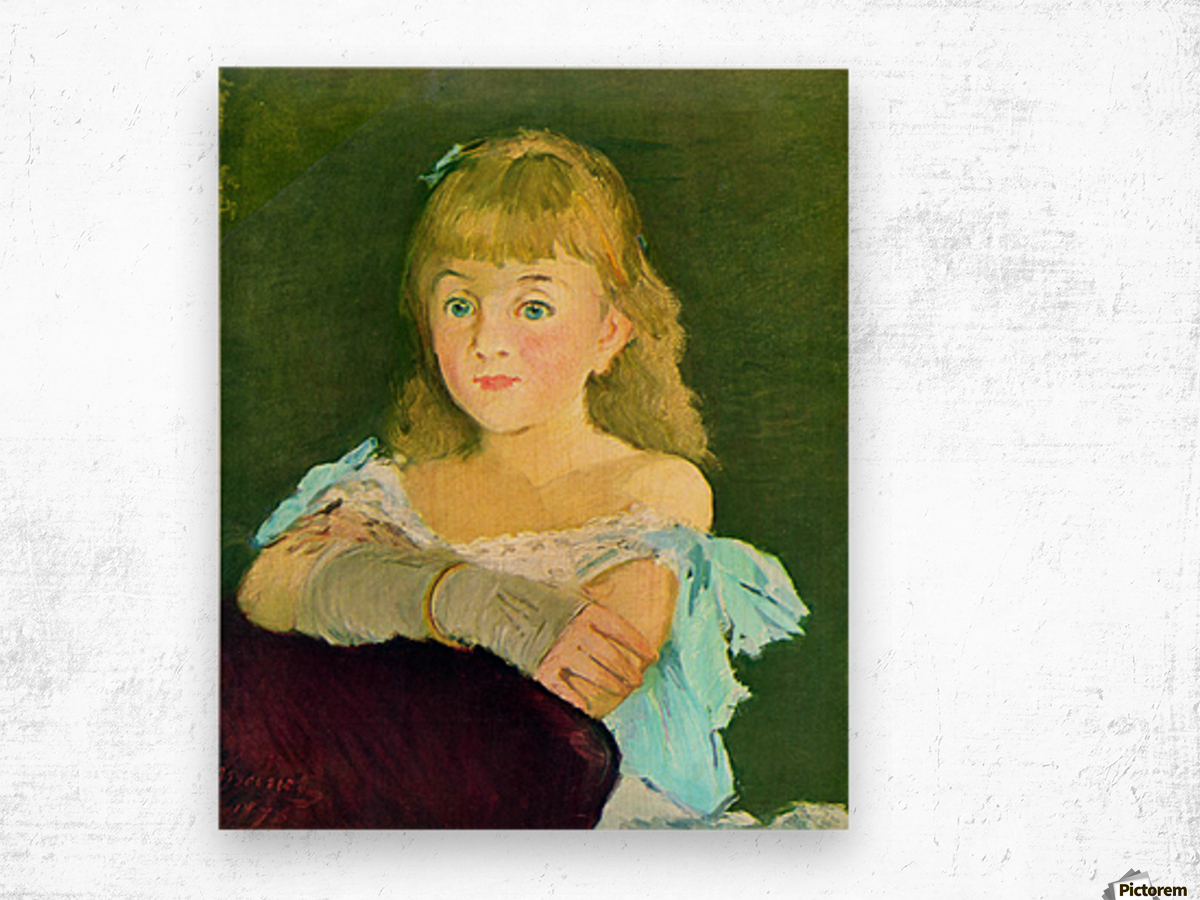 Portrait of Lina Campineanu by Manet Wood print
